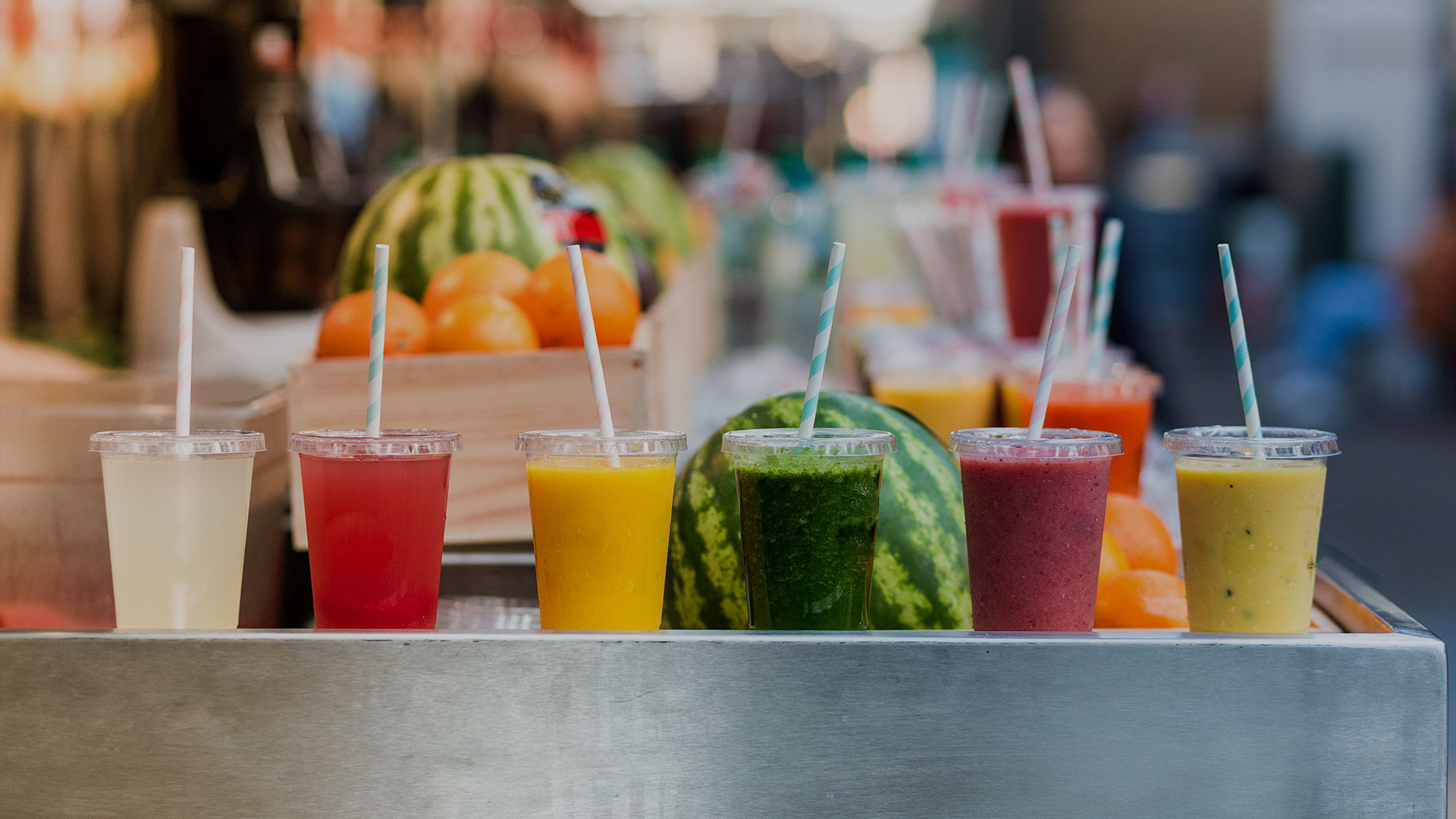 Multi-colored smoothies
